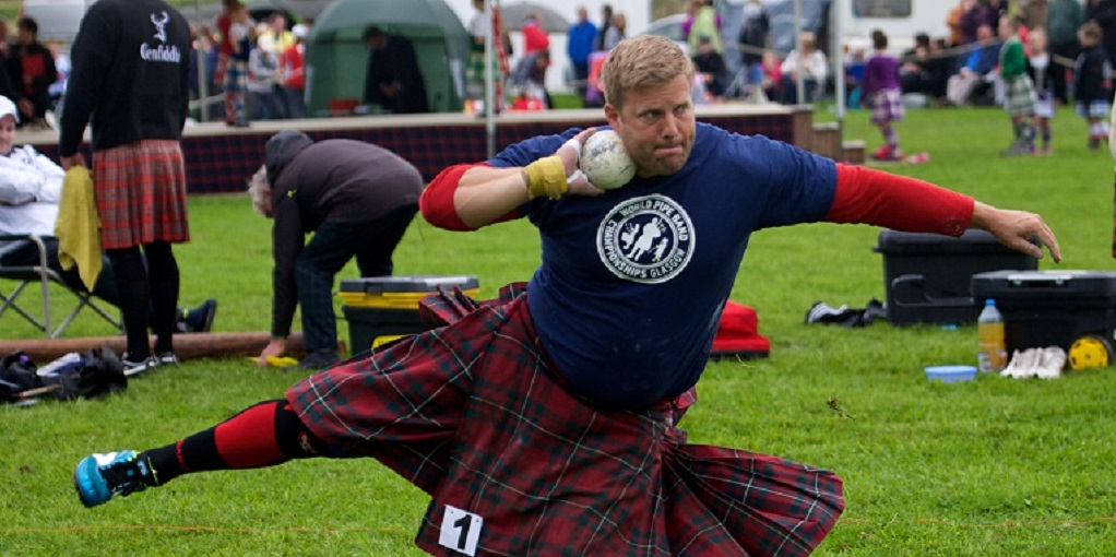 Competing in a kilt is part of the challenge