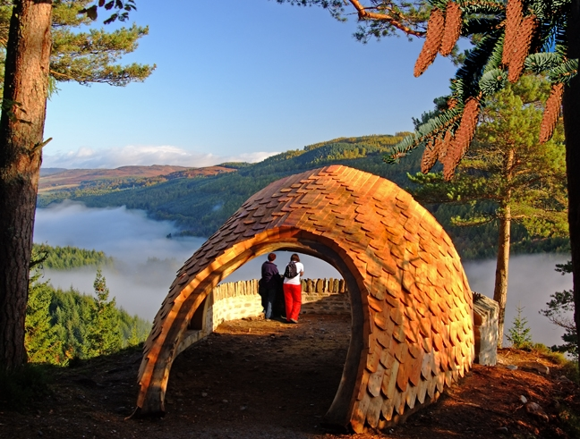 Craigvinean pine cone shelter by Ronald Weir
