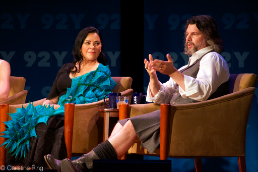 Diana Gabaldon and Ronald D Moore at the NY premier of Outlander