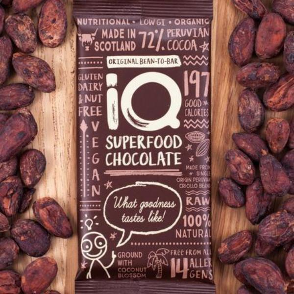 You'll find innovative food creations too, like superfood IQ chocolate