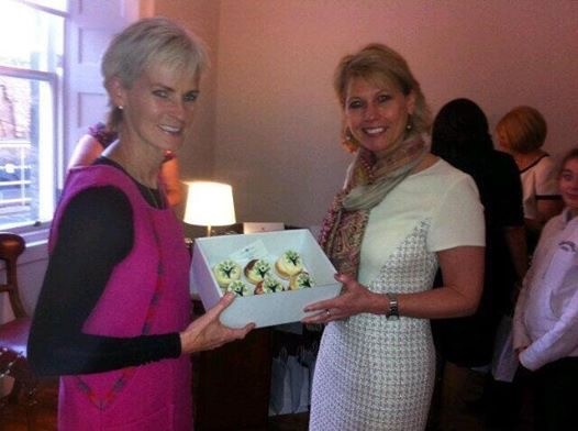 Judy Murray and Fiona Gavine at the opening of One Allan Park Wellbeing Clinic