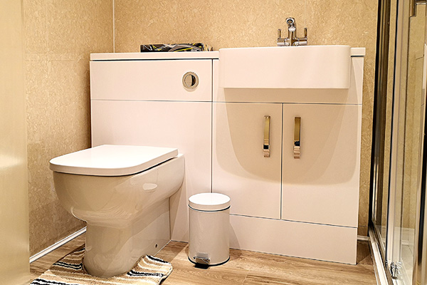 Family bathroom with shower cubicle
