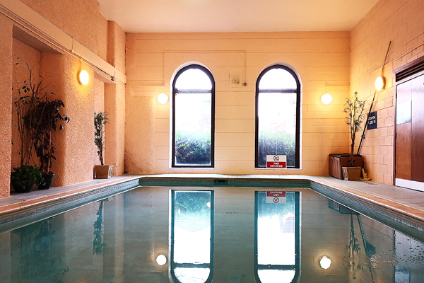 Shared use of heated swimming pool