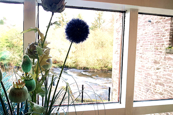 Views from Lounge window over the Allan Water
