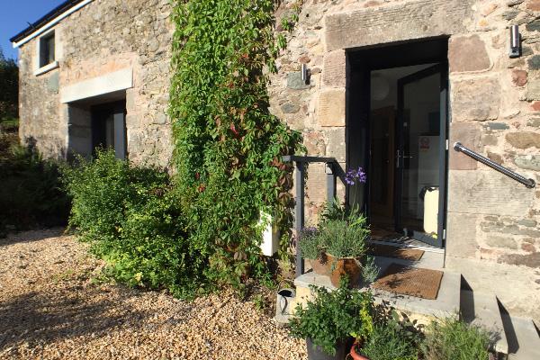 Entrance to Ailsa Barn from Courtyard garden