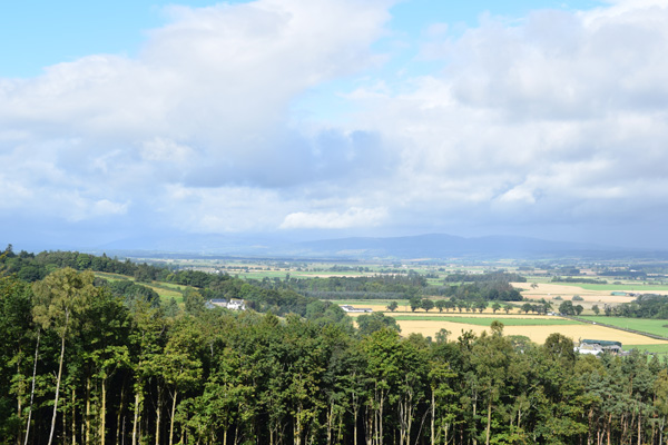 View north from top of Touch Hills accessed from moor behind the barn