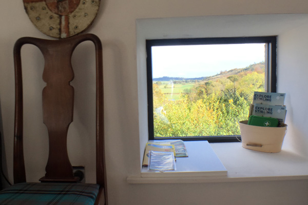 East facing window offers a lovely spot to relax and take in the views towards Stirling Castle.
