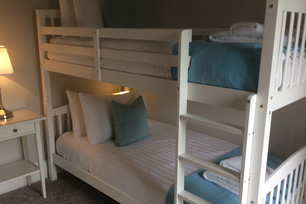 bunk bed room with views to front of property