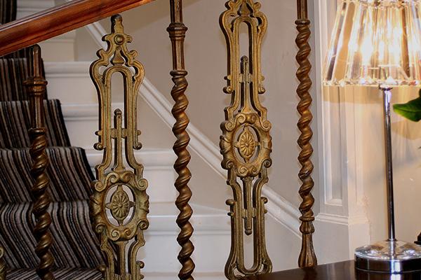 decorative balustrade on stairway
