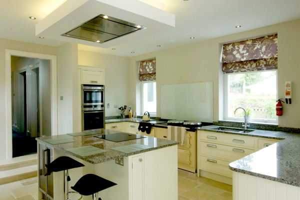 Large, spacious kitchen with Aga, induction hob, electric oven, cofee machine , wine