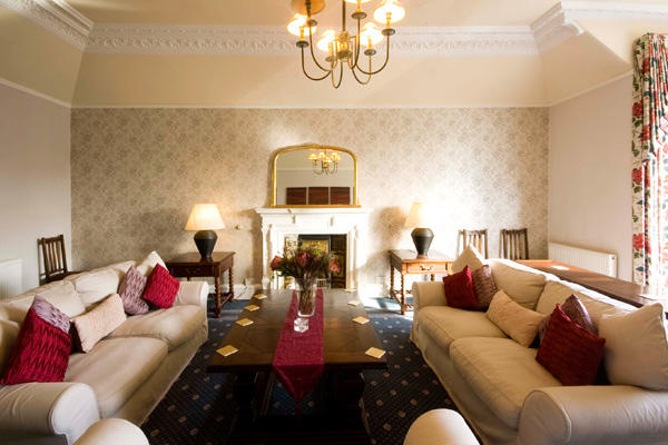 Drawing room on first floor with views to Stirling Castle