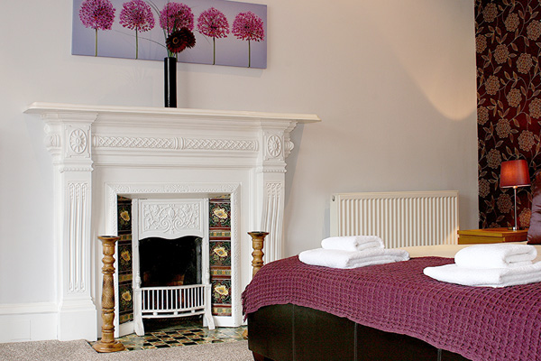 Feature fireplace in Master bedroom