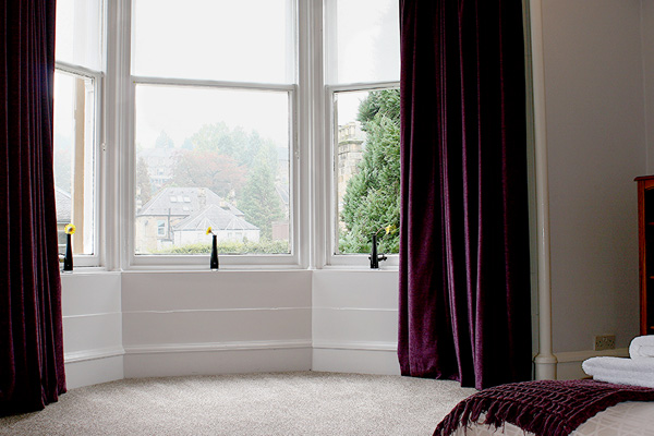 Bay window in Master bedroom with views to front of property