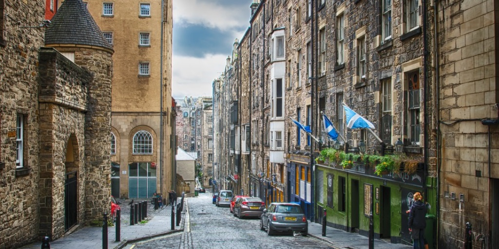 The cobbled streets of Edinburgh are just a short train journey away