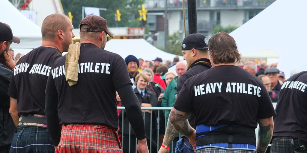 Heavy athletes take part in traditional events