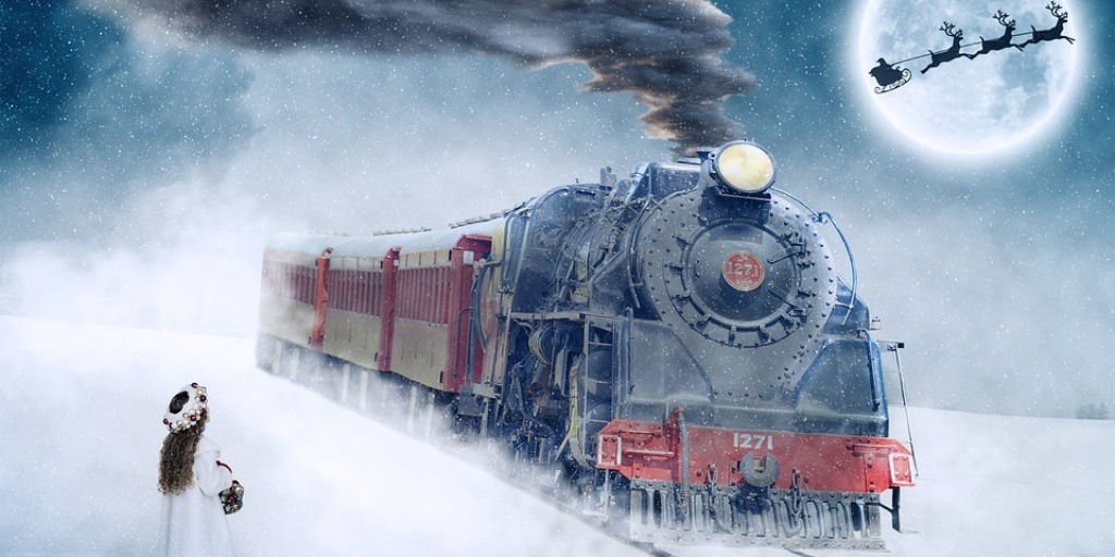 Will you meet Santa on steam train?