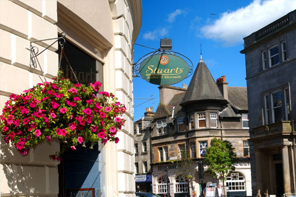 Stirling's historic town centre