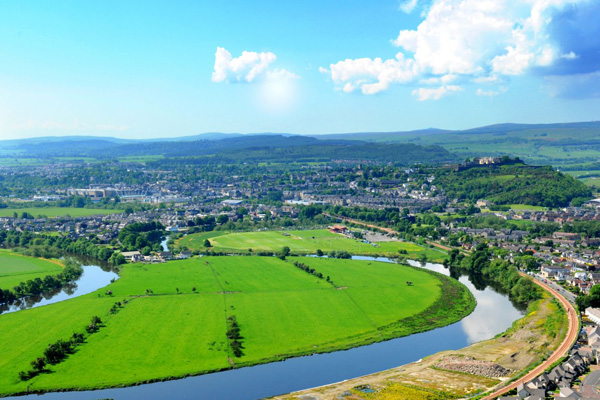 View across Stirling from the Wallace Monument